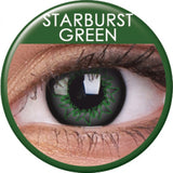 Starburst Green Coloured Contacts
