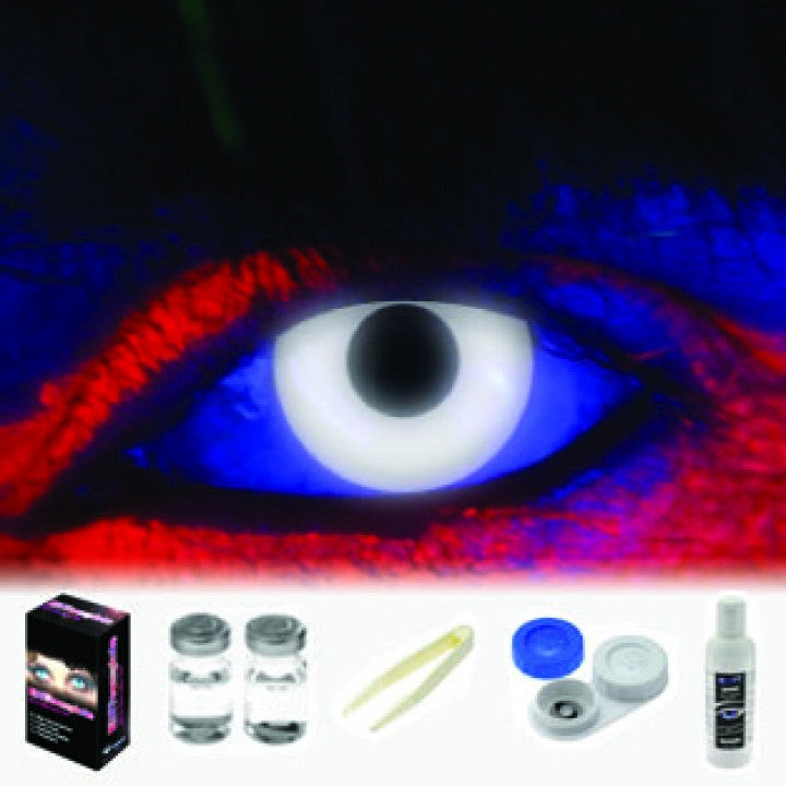UV White Coloured Contacts (Kit)
