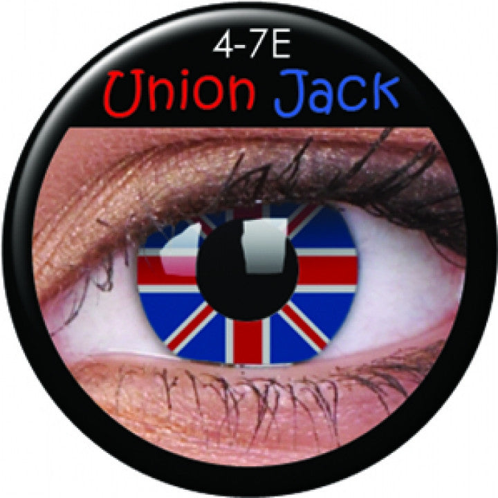 Union Jack Coloured Contacts