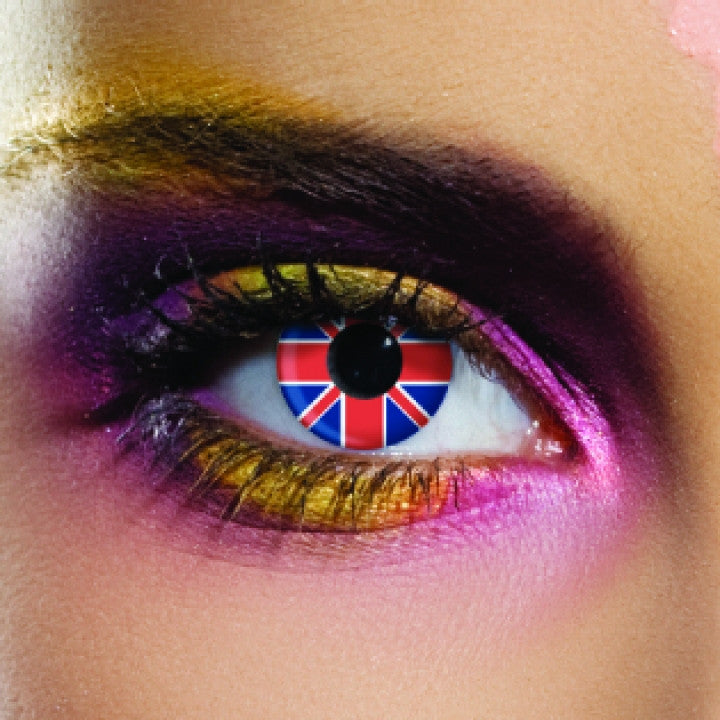 United Kingdom Flag Coloured Contacts