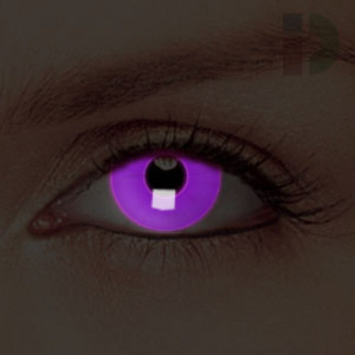 Violet Glow In The Dark Contacts
