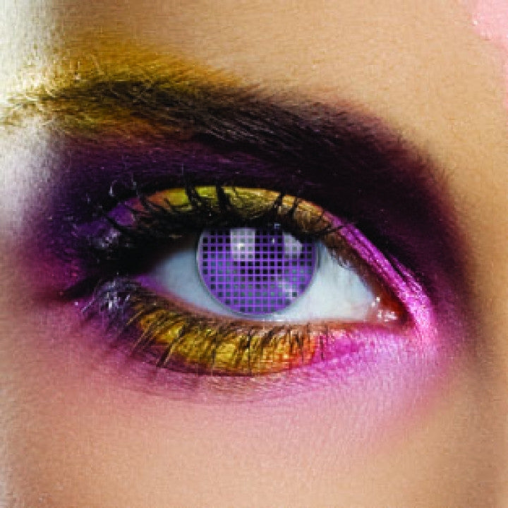Violet Mesh Coloured Contacts