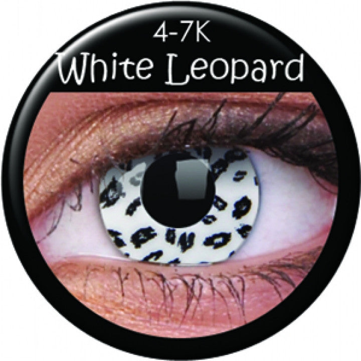 White Leopard Coloured Contacts