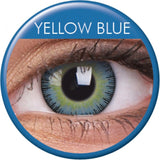 Yellow Blue Coloured Contacts