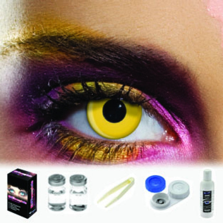Yellow Coloured Contacts (Kit)
