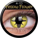 Yellow Flower Coloured Contacts
