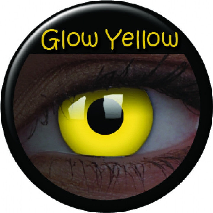 Yellow Glow Coloured Contacts