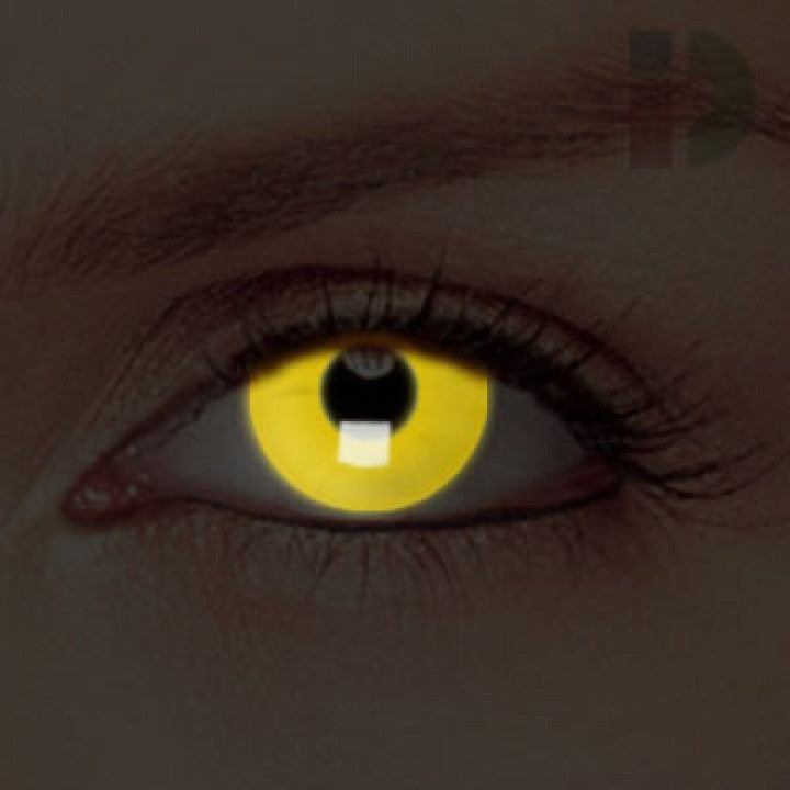 Yellow Glow In The Dark Contacts