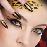Yellow Leopard Coloured Contacts