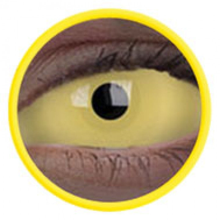 Yellow UV Glow Scleral Full Eye Coloured Contacts