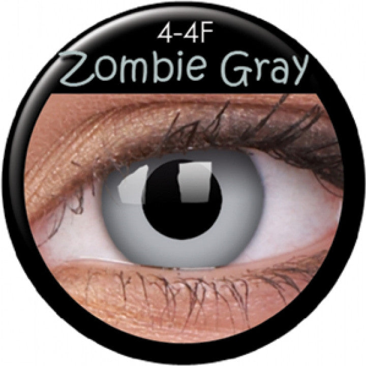 Zombie Grey Coloured Contacts