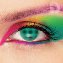 Aqua Mesh Coloured Contacts