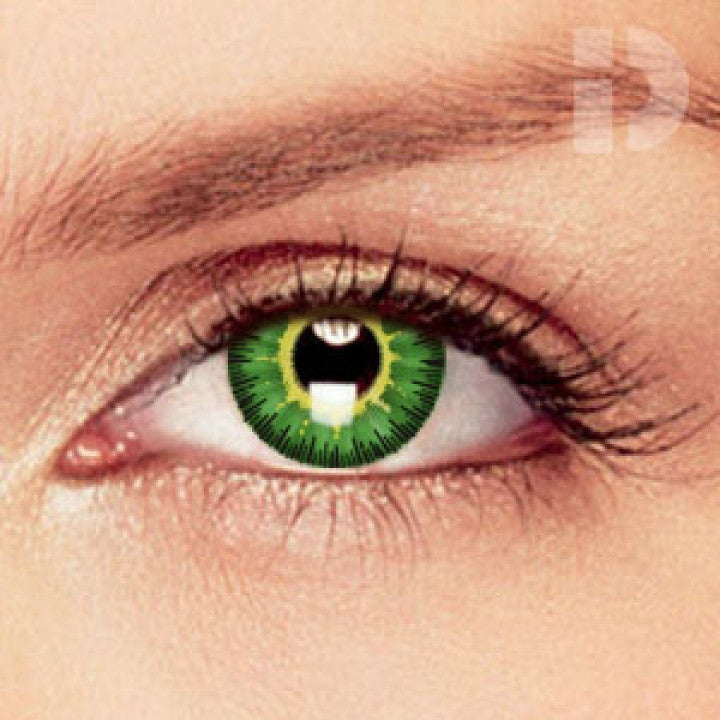 Green / Yellow Coloured Contacts