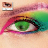 Green Mesh Coloured Contacts