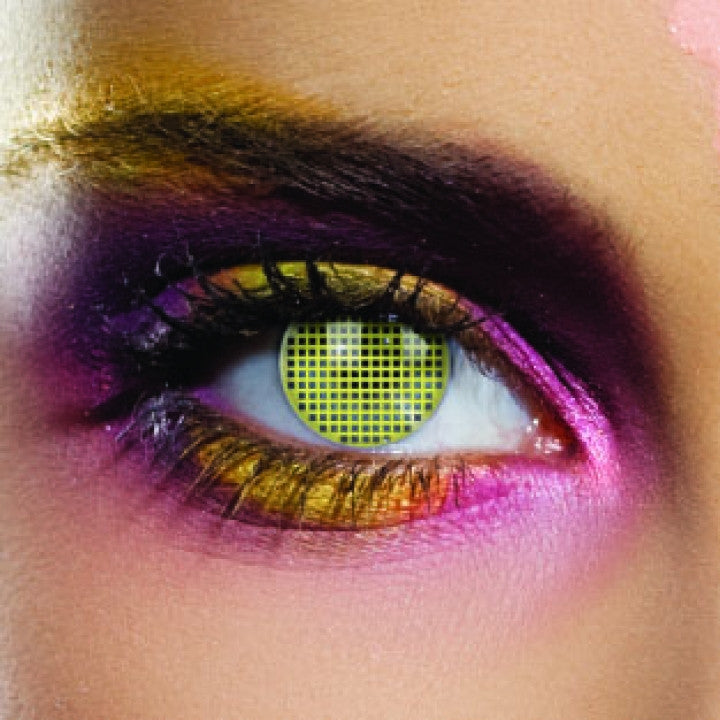 Yellow Mesh Coloured Contacts