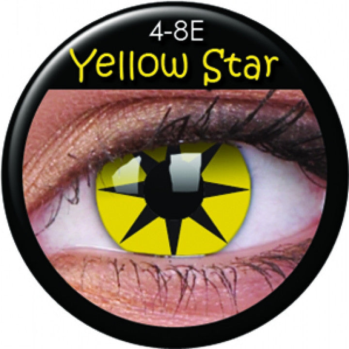 Yellow Star Coloured Contacts