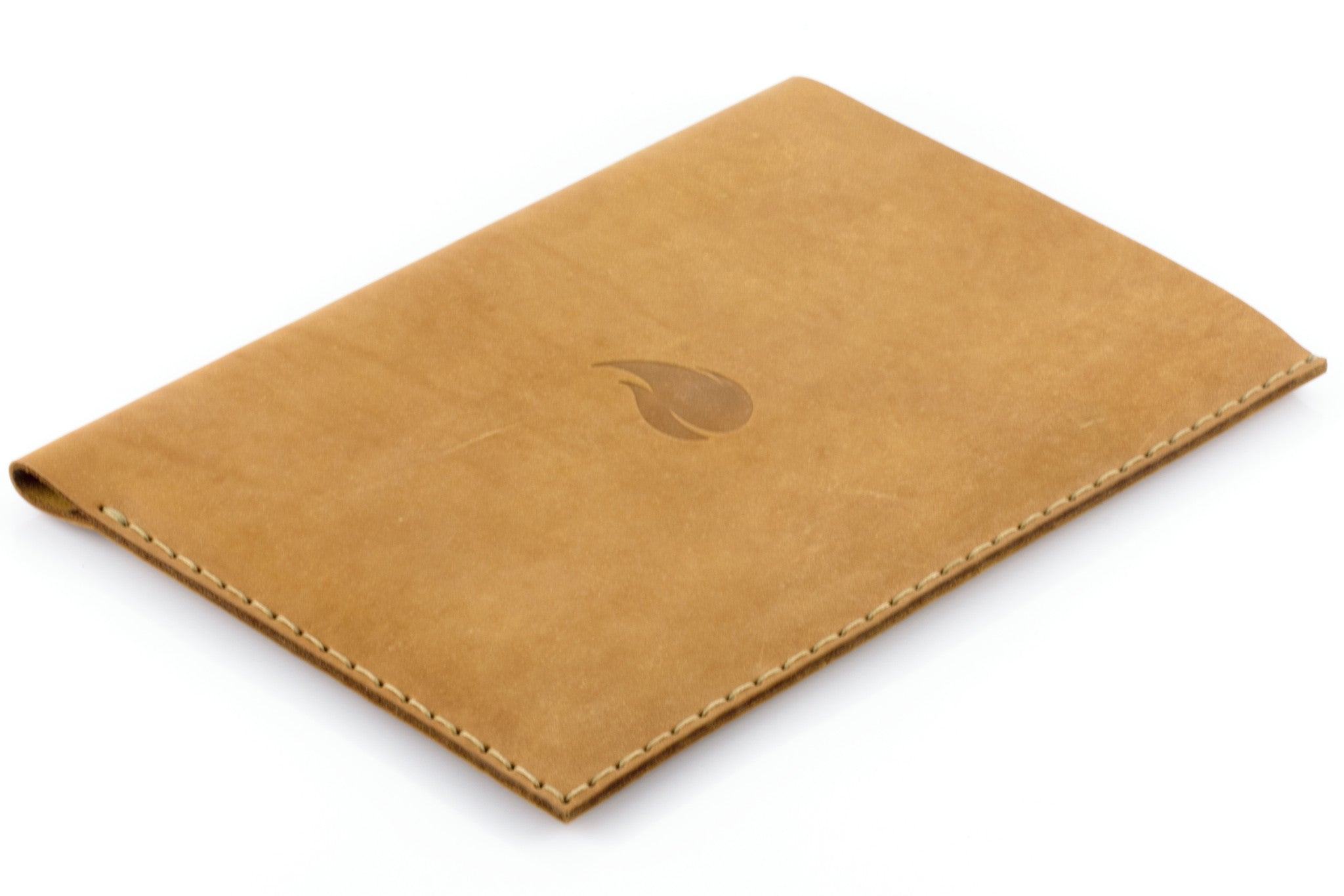 newest 1a227 0282b 12 inch MacBook Leather Sleeve, Light Brown Collection