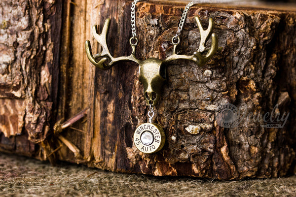 European Mount Necklace with Bullet Casing