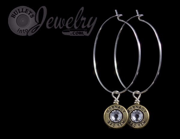 223 bullet hoop earrings