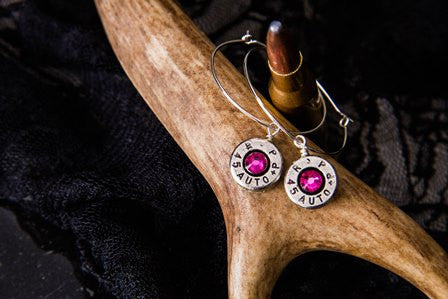 Bullet Earrings,Hoop Rifle Caliber