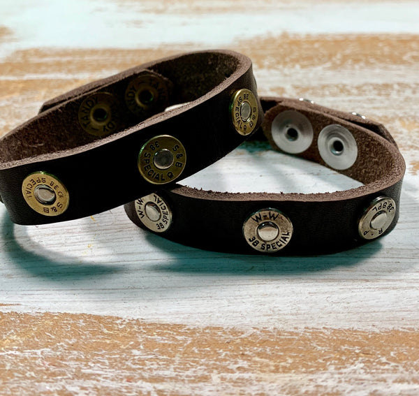 Bullet Jewelry, Leather Bullet Bracelet
