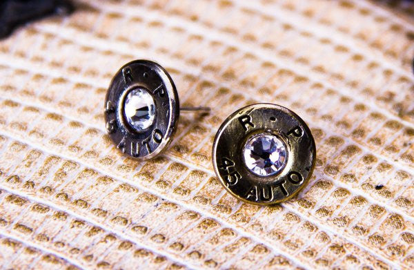 Pistol Caliber Post Earrings