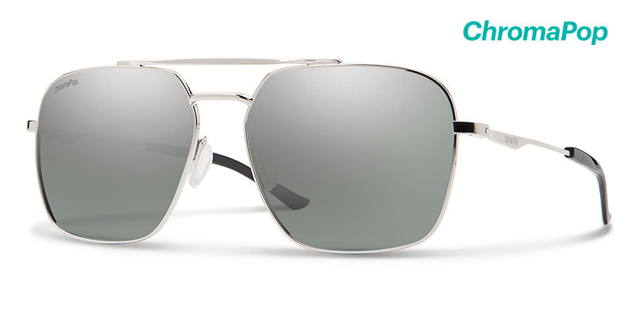 Double Down Silver-Chromapop Polarized Platinum