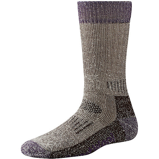 Smartwool Women's Hunt Heavy Crew Socks in Chestnut and Desert Purple