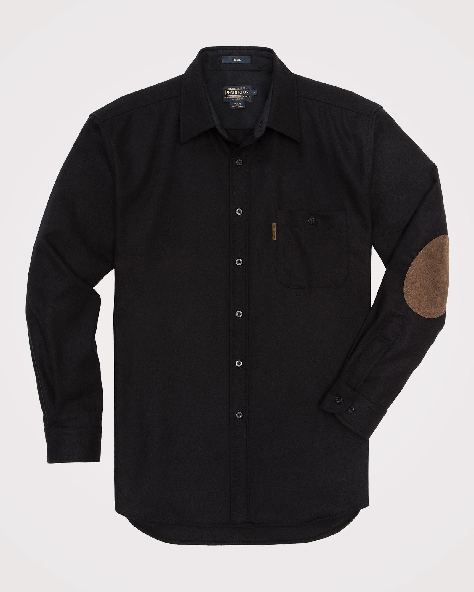 Men's Long Sleeve Trail Shirt With Elbow Patch