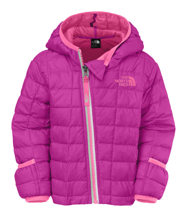 The North Face Infant Thermoball Hoodie in Luminous Pink