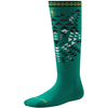 Kids' Wintersport Wolf Over the Calf Sock in Alpine Green