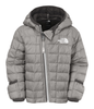 The North Face Infant Thermoball Hoodie in Metallic Silver