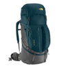 The North Face Fovero 70 Litre Backpack in Monterey Blue and Gold Finch Yellow