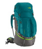 The North Face Women's Fovero 70 Litre Backpack in Blue Coral and Budding Green