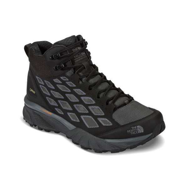 The North Face Men's Endurus Hike Mid GTX in TNF Black and Dark Shadow Grey