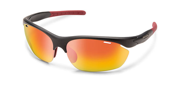 Portal Matte Graphite-Polarized Red Mirror