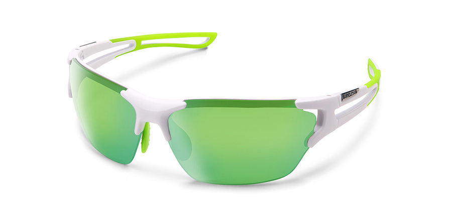 Cutback Matte White-Polarized Green Mirror