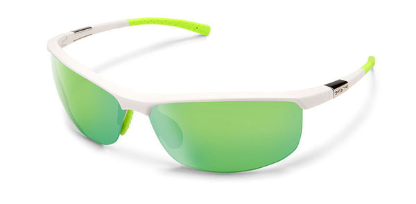 Tension Matte White-Polarized Green Mirror
