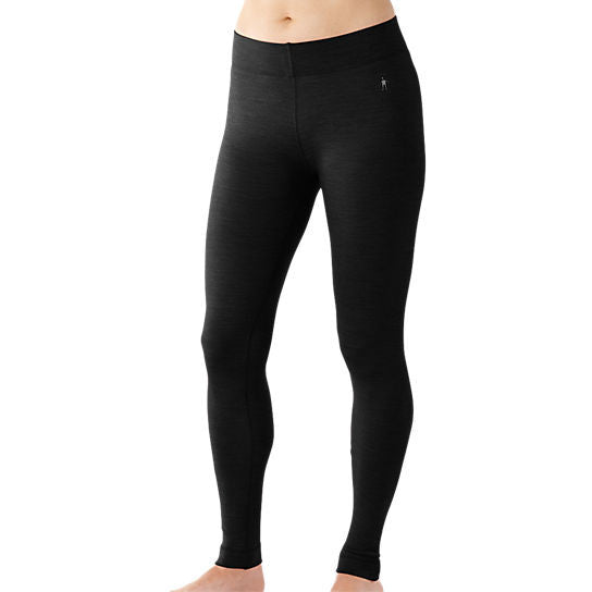Smartwool Women's NTS Mid 250 Baselayer Bottom in Charcoal Heather (Black)
