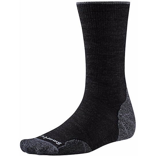 Men's PhD Outdoor Light Crew Socks - CHARCOAL L