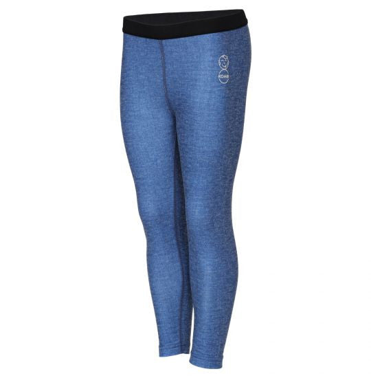 Kombi Body 2 Merino Wool Pattern Jr. Bottom Baselayer Tight in Blue Jeans