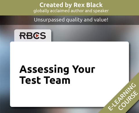 Assessing Your Test Team E-Learning