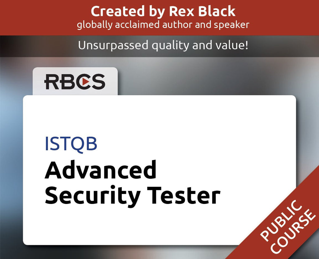 ISTQB Advanced Security Tester Training