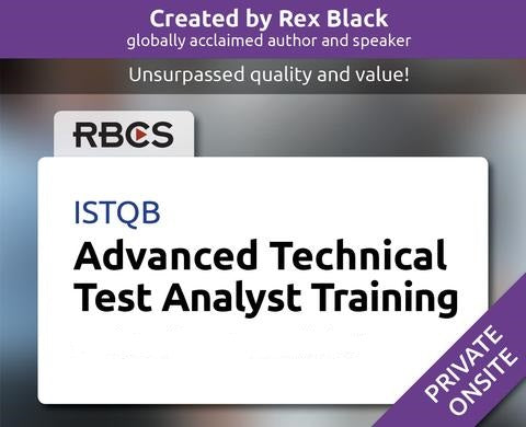 ISTQB Advanced Technical Test Analyst Training