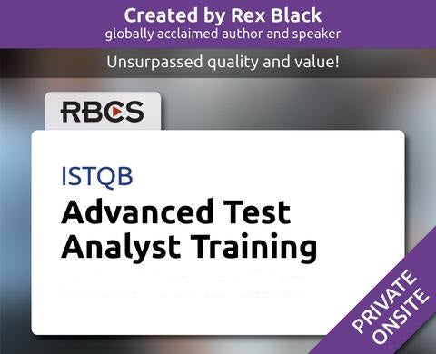 ISTQB Advanced Test Analyst Training