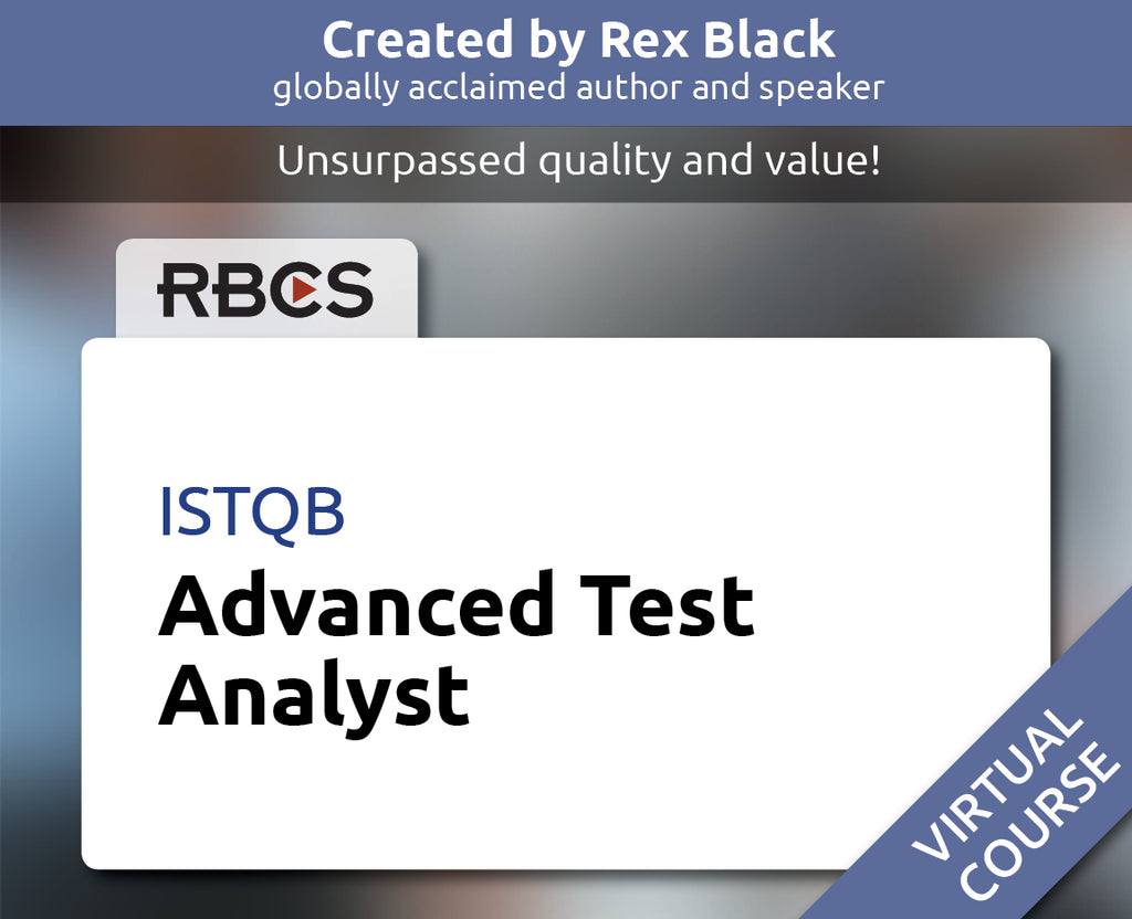 ISTQB Virtual Advanced Test Analyst Training