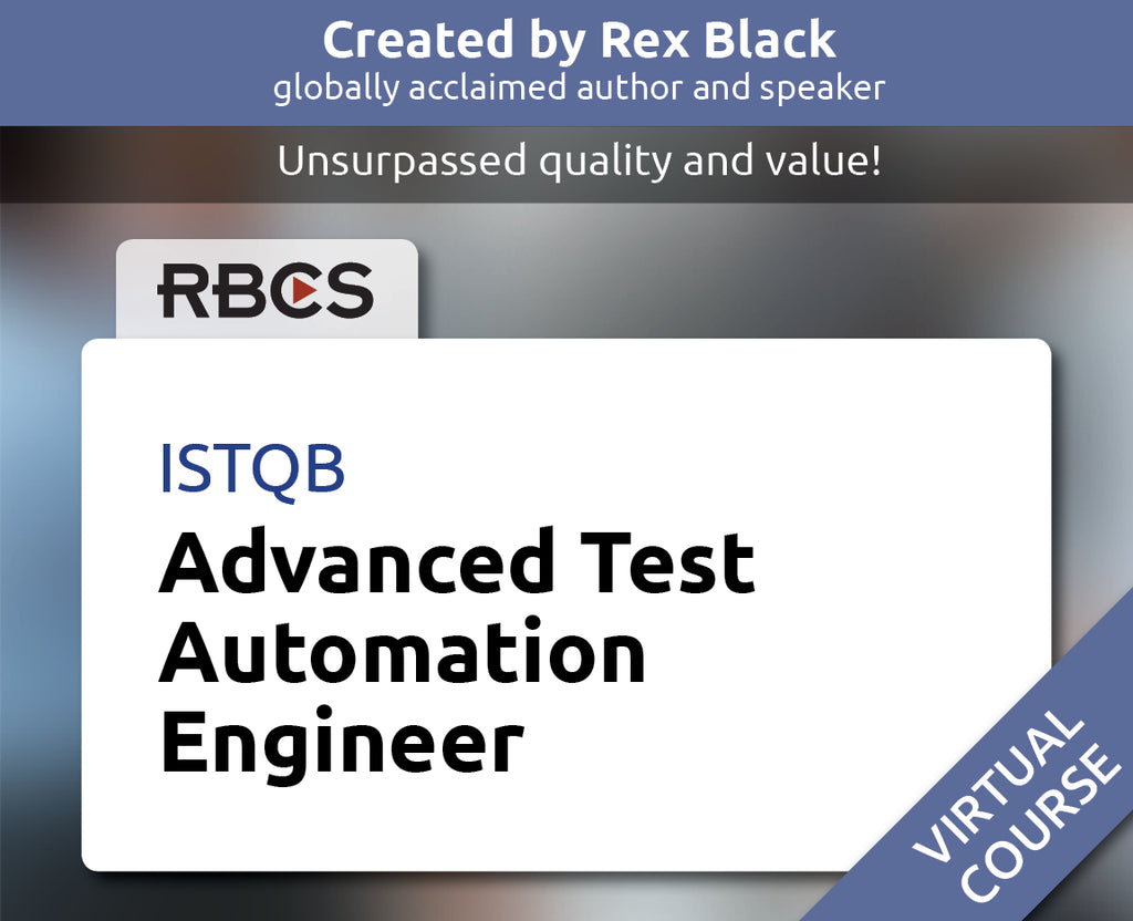 ISTQB Virtual Advanced Test Automation Engineer Training