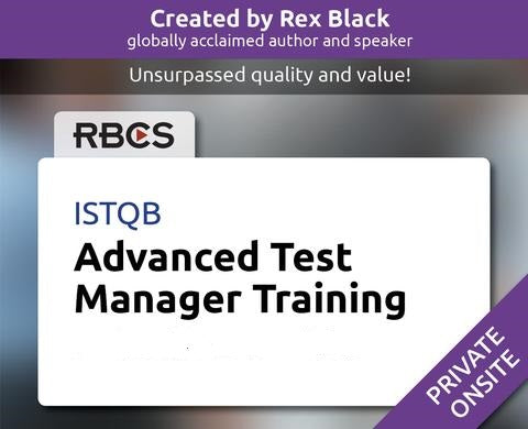 ISTQB Advanced Test Manager Training