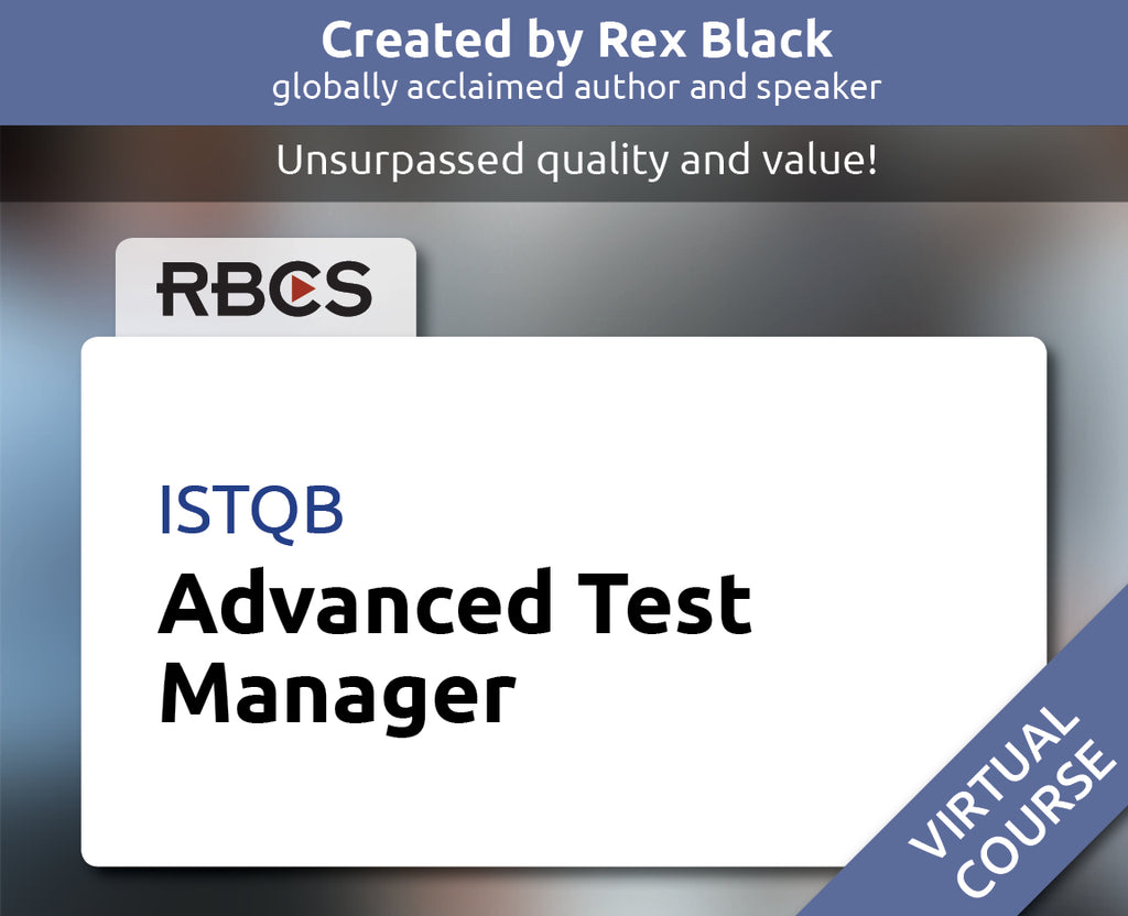 ISTQB Virtual Advanced Test Manager Training