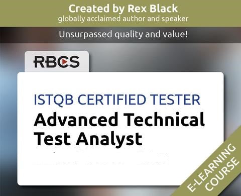 ISTQB Certified Tester Advanced Technical Test Analyst E-Learning